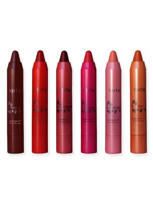 Tarte Lipsurgence. Long-lasting, great shades, fun applicator. I think I own all of these.