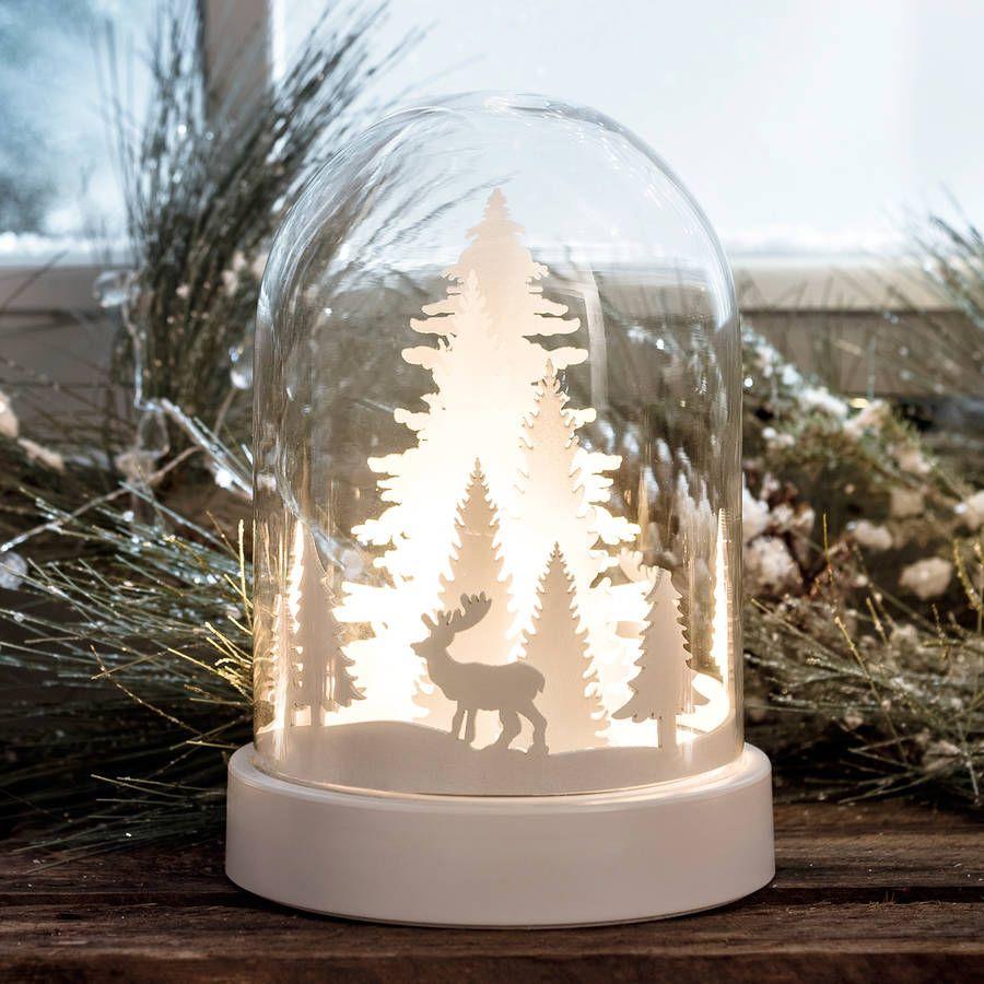 Light Up Glass Dome With Christmas Scene Christmas Window