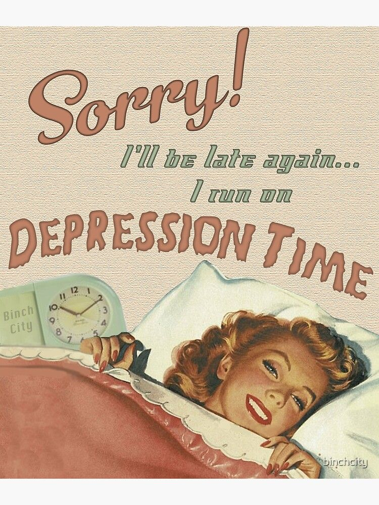 Depression Time Poster by binchcity