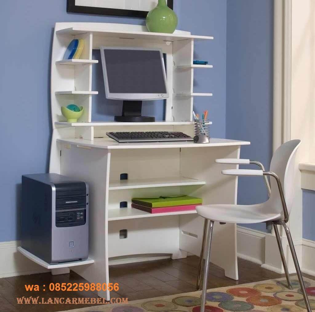 Meja Belajar Anak Laki Laki Cat Duco Putih Desks For Small Spaces Small Bedroom Desk Computer Desk Design Meja belajar anak laki