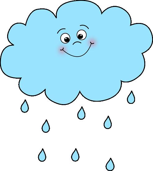 Nuage de pluie joyeux