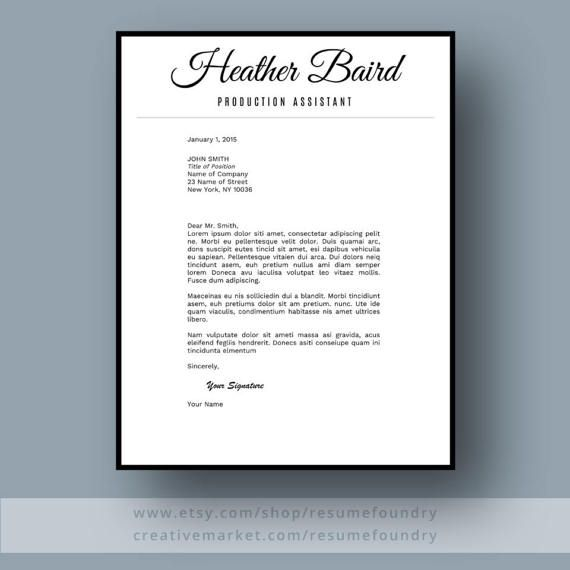 Bold and Modern Resume Template for Word, 1-3 Page Resume + Cover