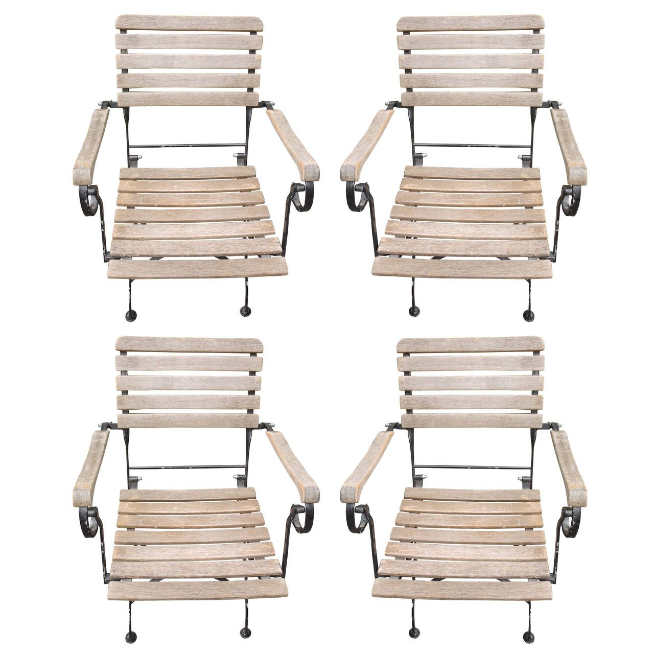 French Folding Garden Armchairs | From a unique collection ...