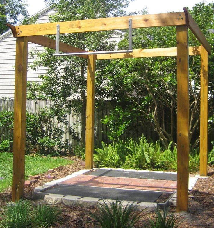 Trx Frame Diy Google Search Outdoor Gym Pinterest