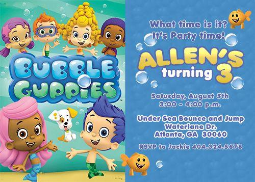 Bubble Guppies Birthday Invites My Birthday Pinterest – Bubble Guppies Party Invites