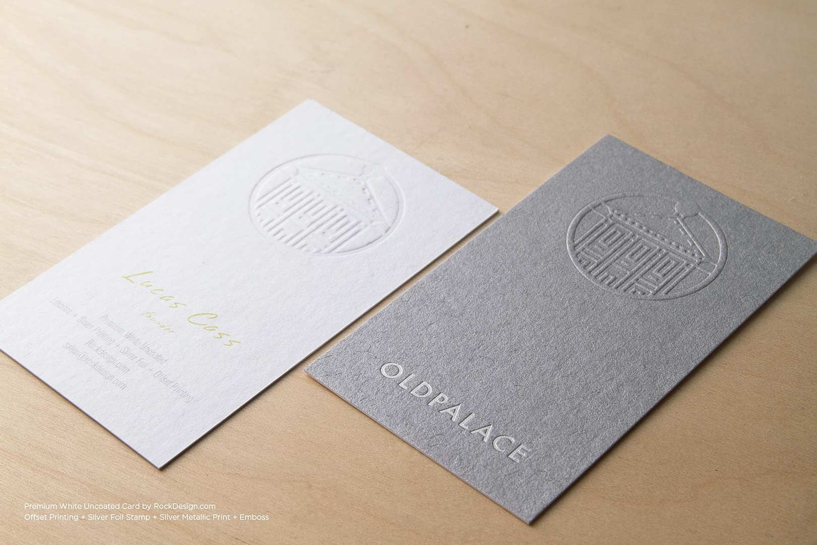 Premium Uncoated Business Cards By Rockdesign Com Embossed Business Cards Premium Business Cards Uncoated Business Cards