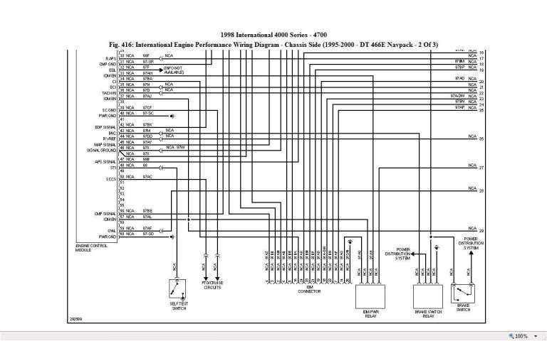 16 1999 International Truck 4700 Wiring Diagram Truck Diagram