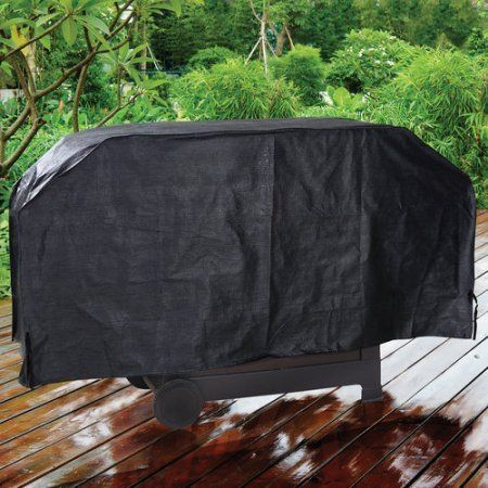 Barbecue Grill Cover 60 Inch Black Backyard Grill Weather Tear