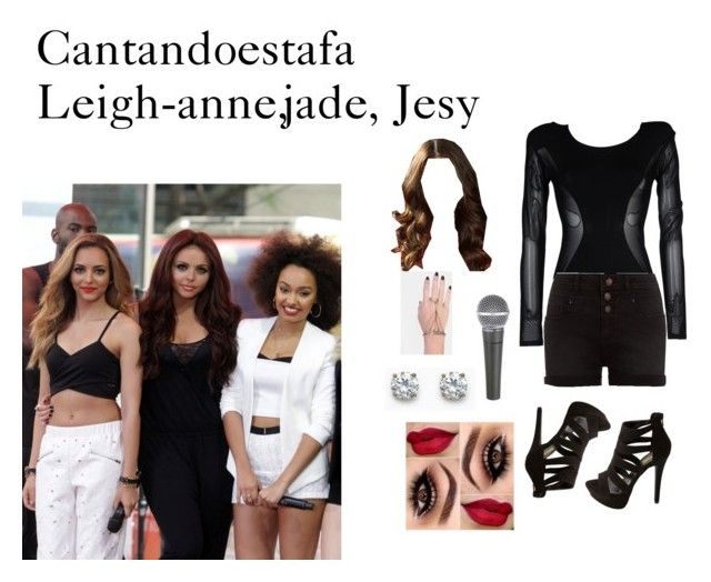 """""""con leigh-anne jade jesy"""" by dorastyles-clxiv ❤ liked on Polyvore featuring Body Editions, Charlotte Russe and INDIE HAIR"""