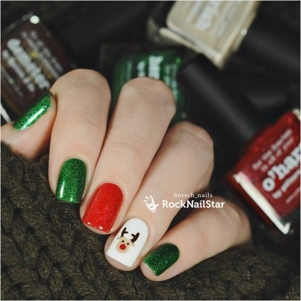 30 totally cute christmas designs for short nails short