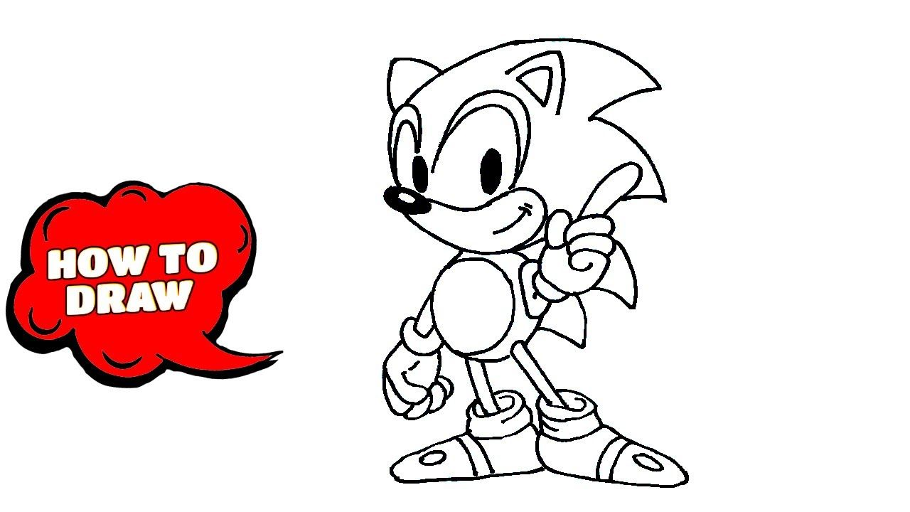 How To Draw Sonic The Hedgehog Drawing Sonic The Hedgehog 2020 Sonic In 2020 How To Draw Sonic Hedgehog Drawing Drawing Tutorial Easy