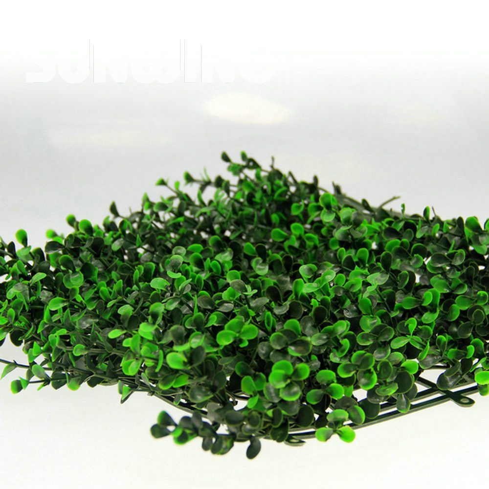 artificial plants hedge fencing 48pcs 25x25cm uv green plastic fencing artificial boxwood mat decoration for garden plant fence