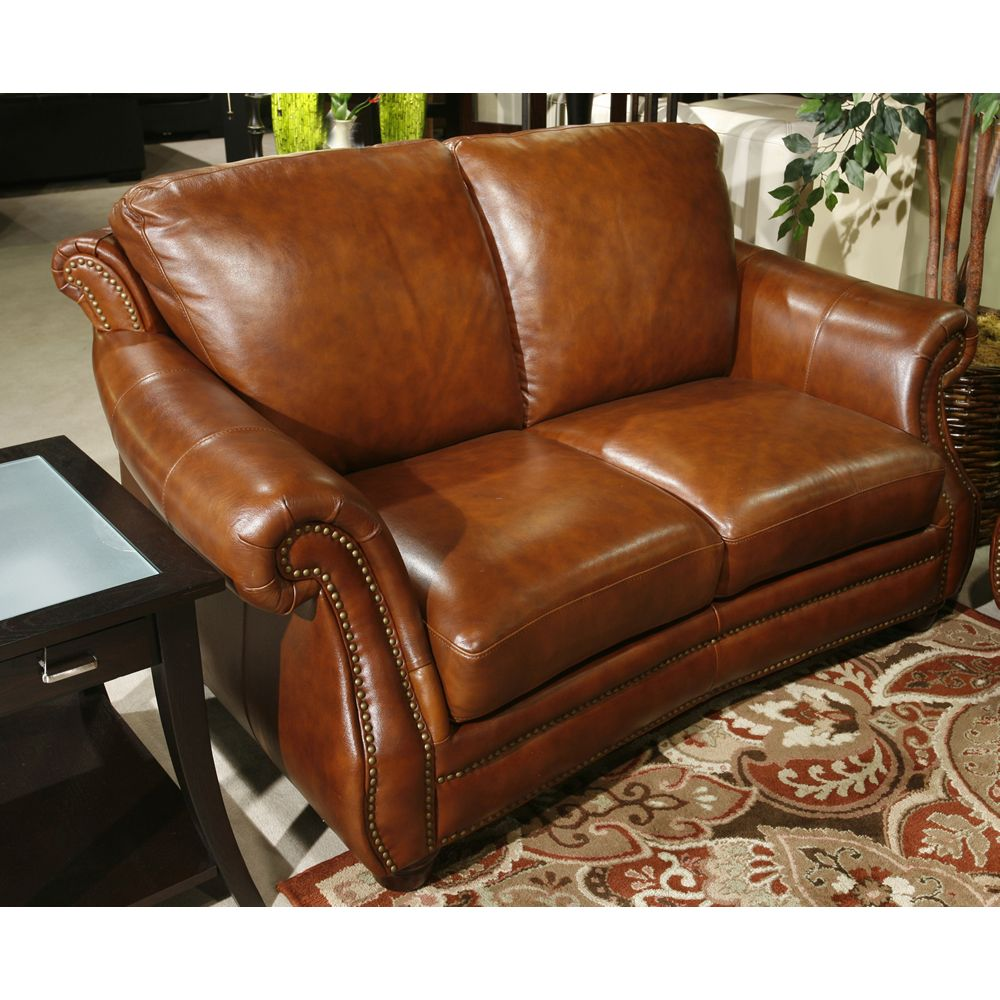 Brilliant This Color Simi Cognac Leather Loveseat Home Sweet Home Machost Co Dining Chair Design Ideas Machostcouk