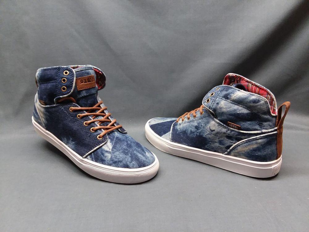 Vans Men s Alomar Casual Sneakers Skateboarding Blue White Size 11.5 ... d8eb7f171