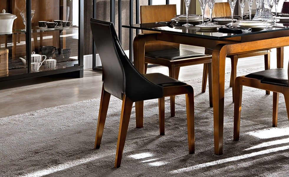 M34   Mosaico | Contemporary Collections Le Fablier | Chair With Leather  Seat | Measures In Cm (LxDxH) 47x52x87 | Structure In Solid Beechwood |  Pinterest