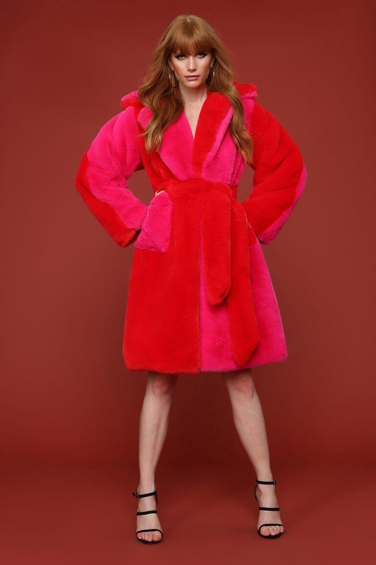 SHH Money Faux Fur Coat Pink Faux fur coat, Fashion