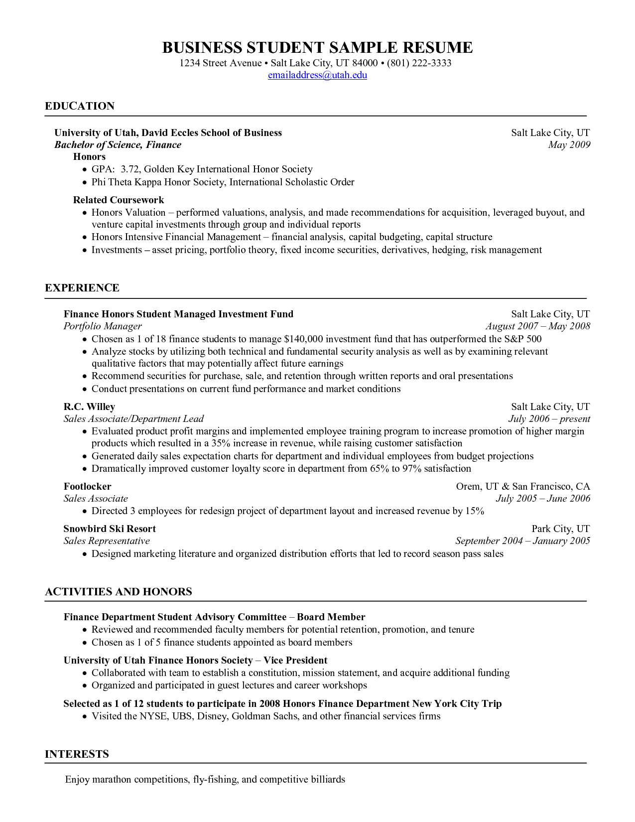 Resumes For Students Stockroom Manager Resume  Httpwwwresumecareerstockroom