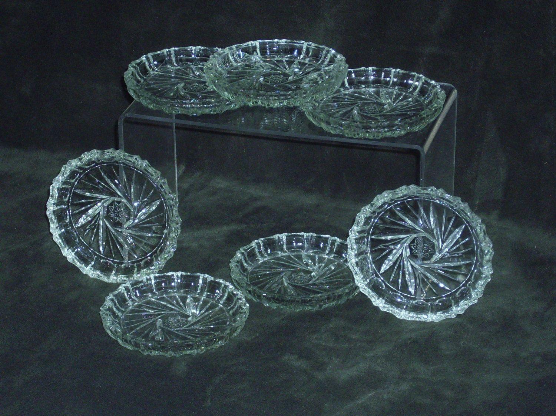 Coaster Set Vintage Pinwheel Crystal Coaster Set 7 Pinwheel