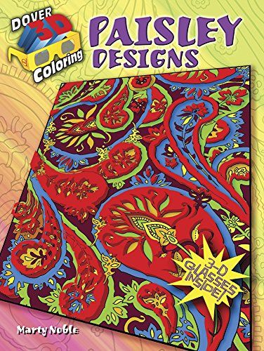 3 D Coloring Book Paisley Designs Dover