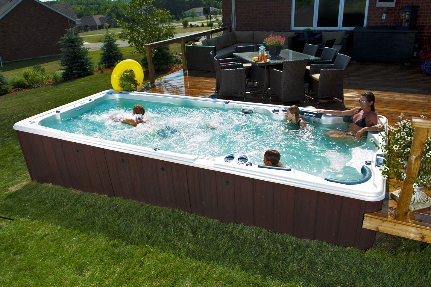 Swim Spas Imagine Backyard Living Swim Spa Landscaping Swim