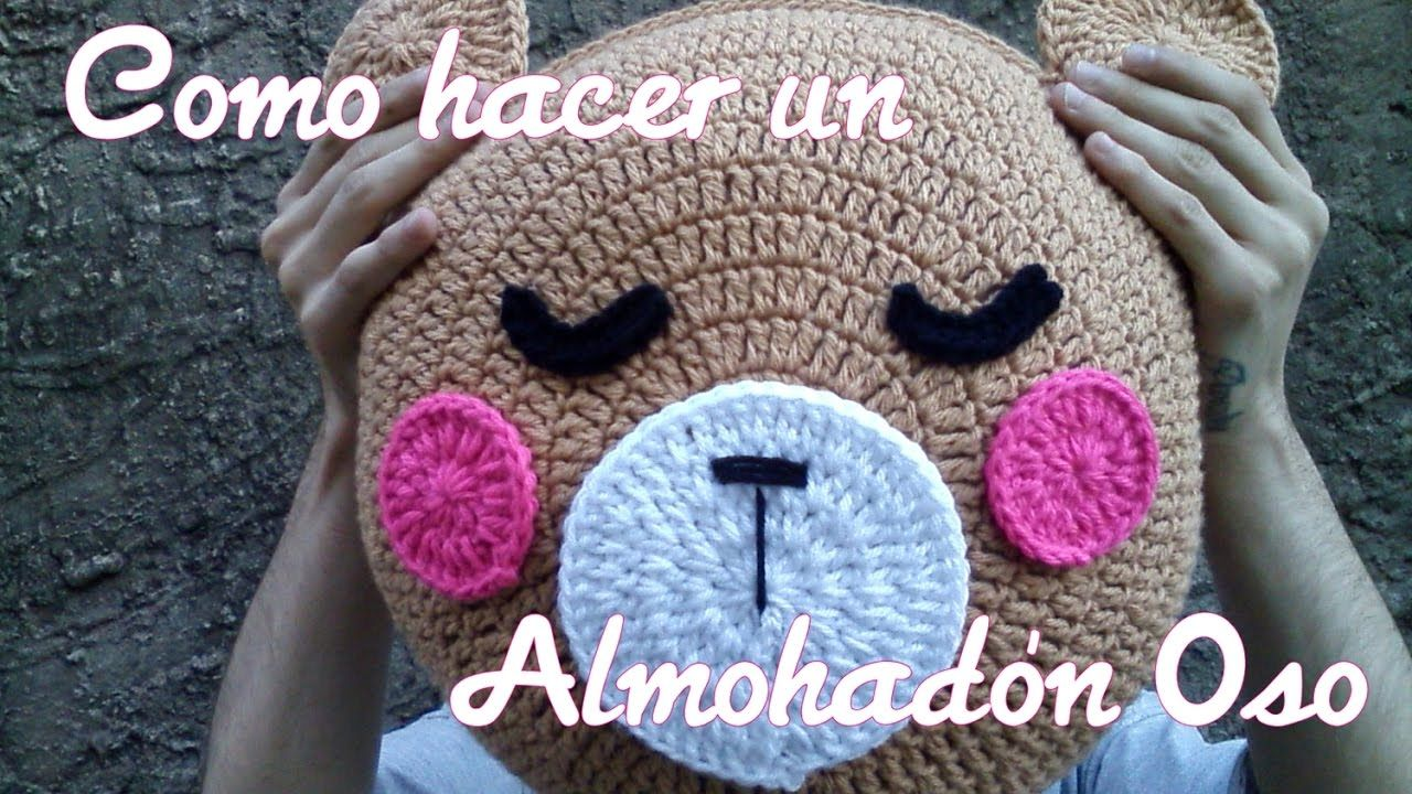 Almohadón Oso crochet - Paso a paso   crochet pillow-pillow cases ...