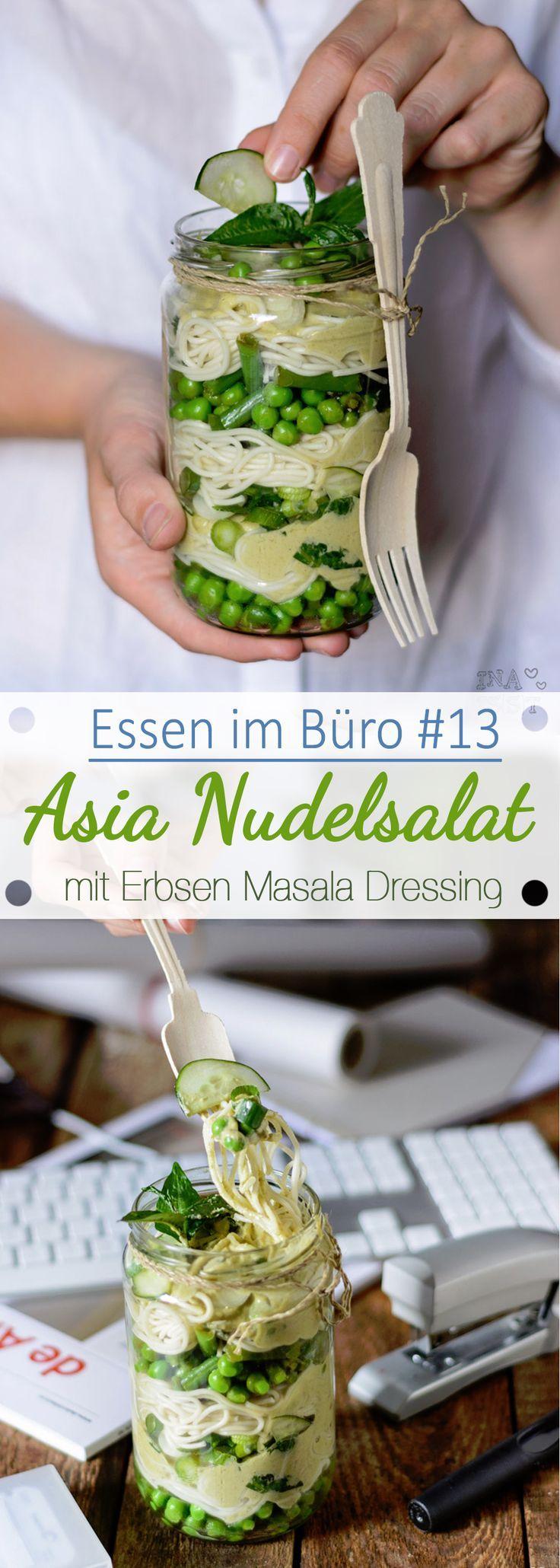 Essen im Büro #13 – Asiatischer Nudelsalat mit Erbsen Masala Dressing