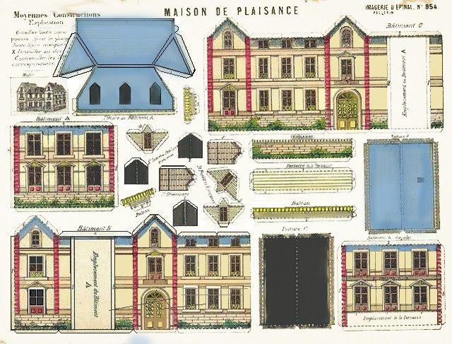 Image Result For Victorian Paper House Template
