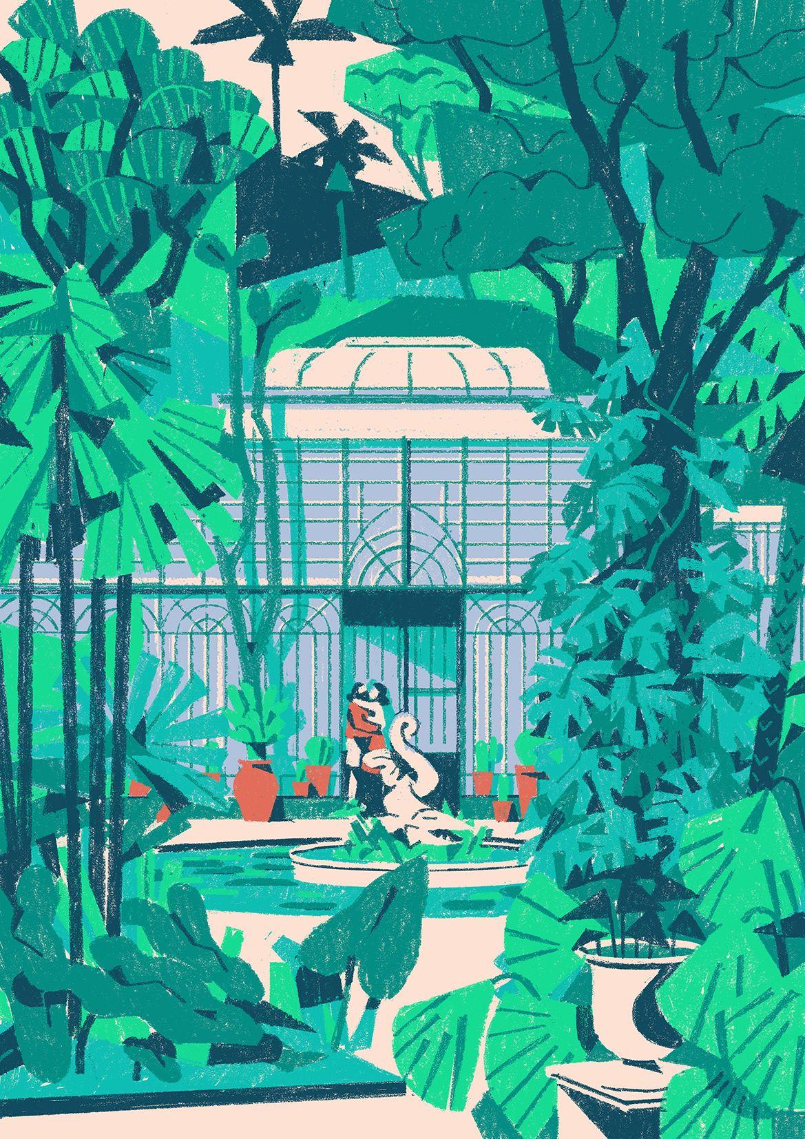 Matteo Berton The Botanic Garden Of Palermo From A Series Of