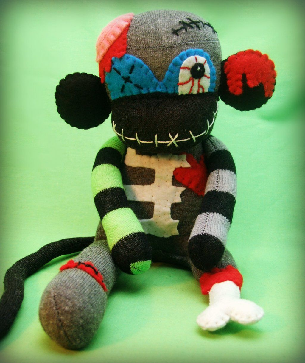 pinsher g on sock monsters | pinterest | socks, monkey and sock