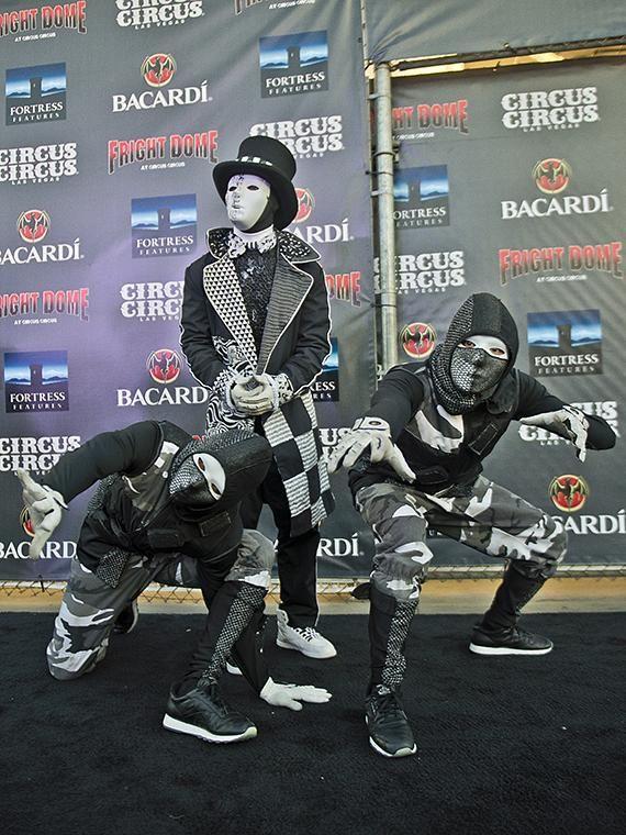 Cast Members Of Jabbawockeez At Fright Dome In Las Vegas Americas Best Dance Crew Street