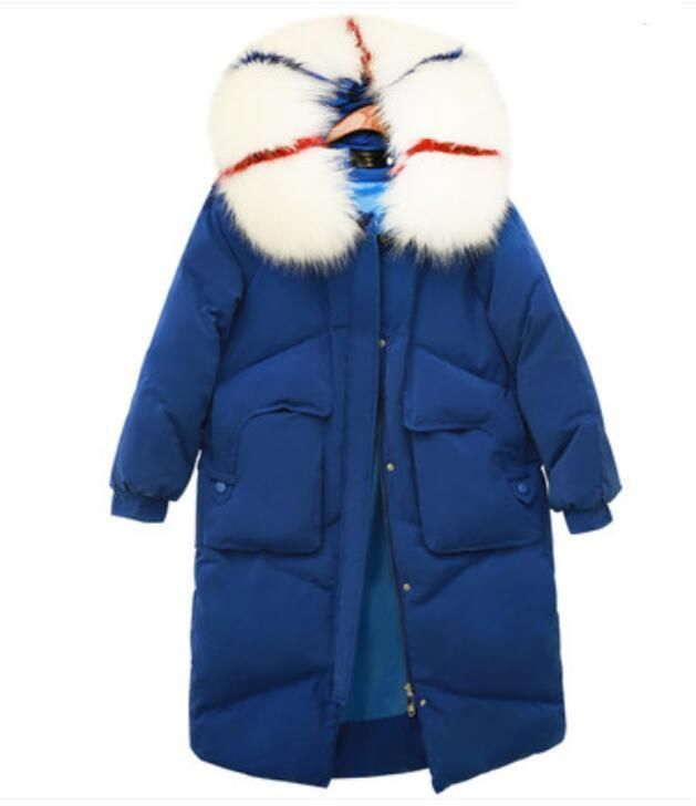 a730abc7a18 Womens Thicken Big Fur Hooded Trench Coat Warm Long Duck Down Coat Parka  Winter  fashion