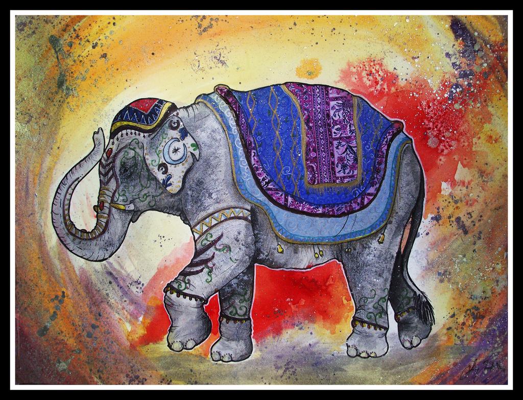 Днем, картинки с индийским слоном