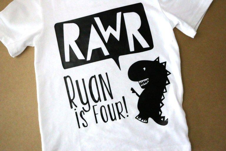 564c4e03 DIY Dinosaur Birthday T-Shirt using Vinyl and Silhouette Cameo | Get ...