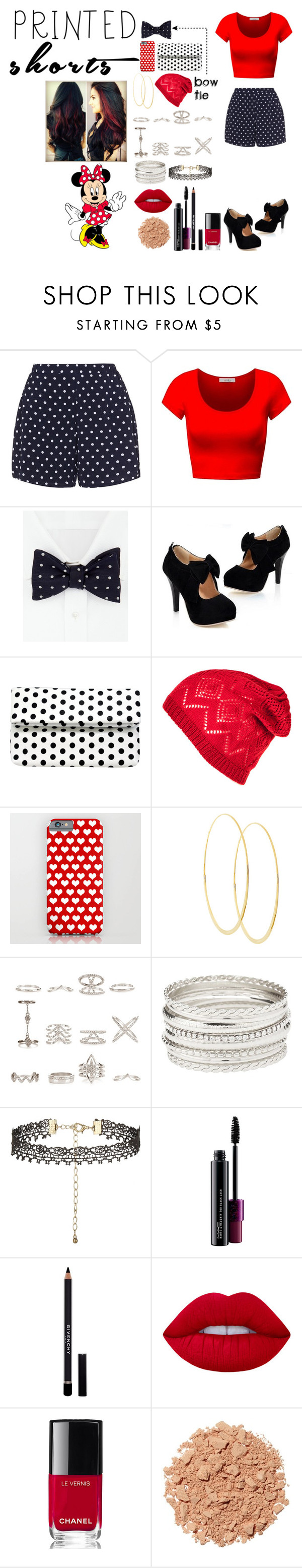 """""""Recreation of Minnie Mouse"""" by creative-with-fashion ❤ liked on Polyvore featuring Zizzi, Turnbull & Asser, La Regale, Lana, New Look, Charlotte Russe, MAC Cosmetics, Givenchy, Lime Crime and Chanel"""