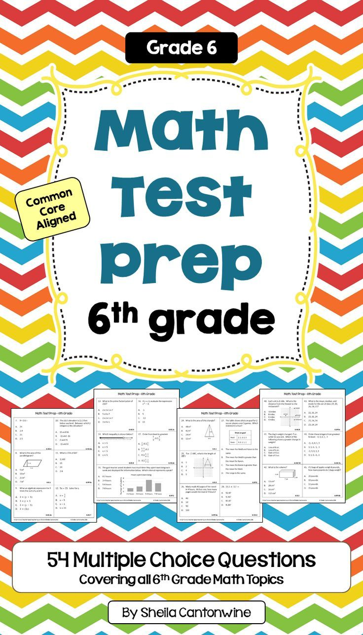 End of Year Math Review - 6th Grade Math Worksheets | Math test ...