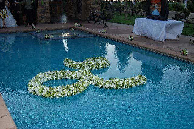 Pool Wedding Decoration Ideas: Floating Pool Decorations, Pool
