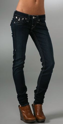 True Religion skinny jeans. People may be over (or hate) skinny jeans. But I love them on me.