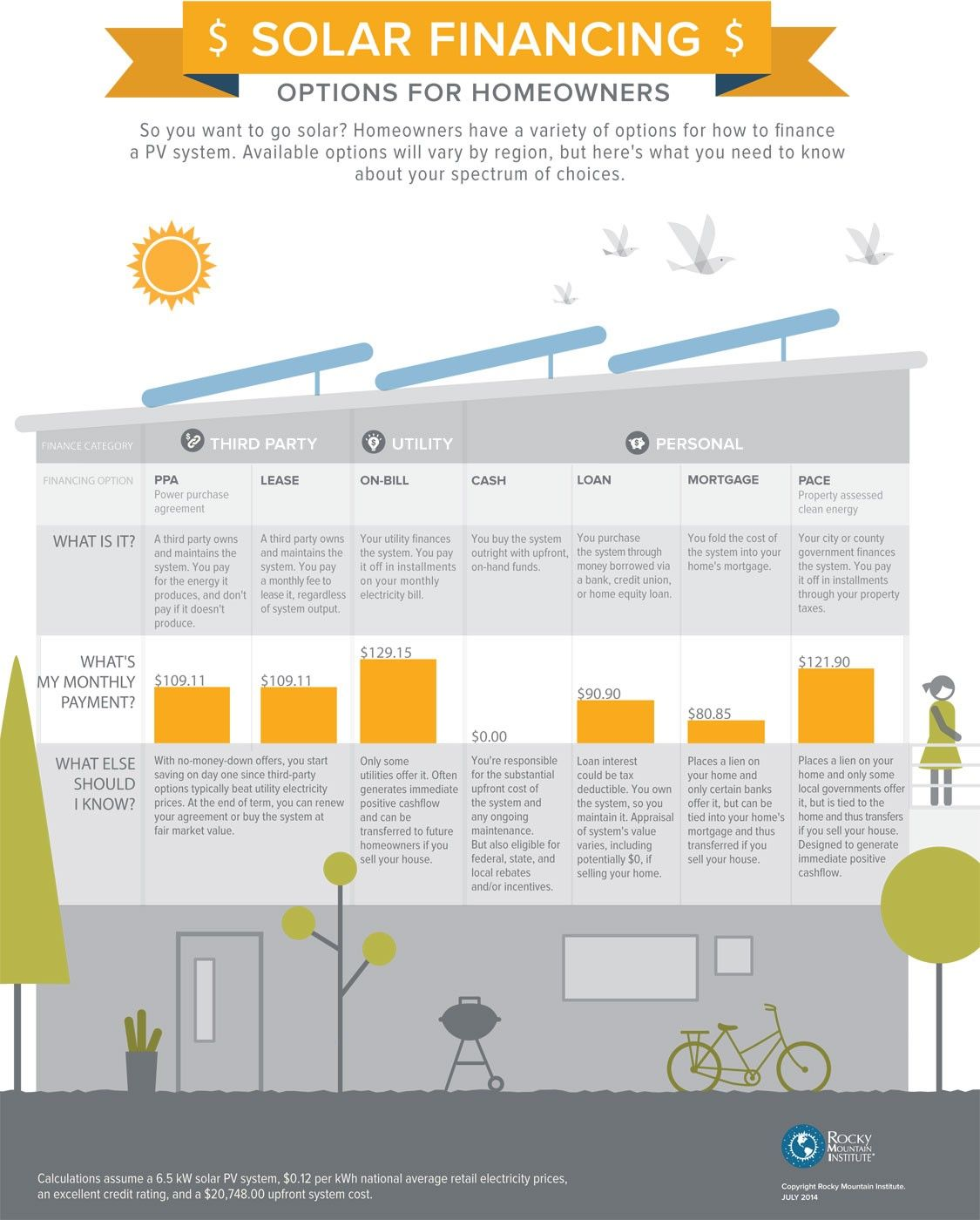 Solar Financing Options For Homeowners Infographic  Solar And