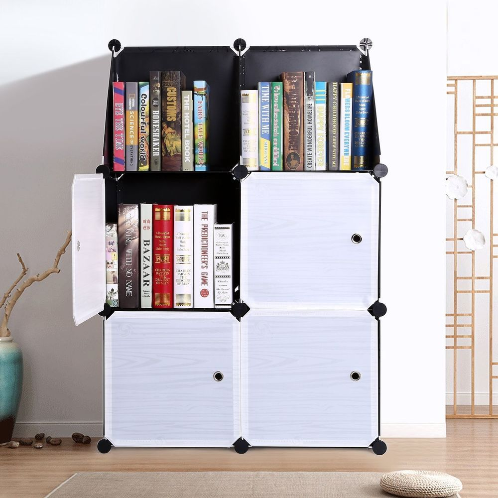 86b5a54ad07a 3-Tier Storage Cabinets Cube Bookcase Closet Organizer Shelf 6-Cube ...