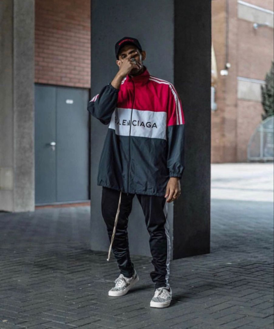 most popular high fashion best sell mensfashion #menswear #mensoutfits #balenciaga #windbreaker ...