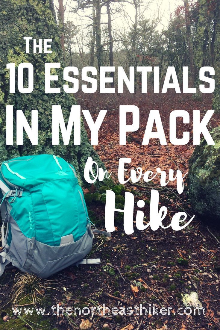 What's In My Daypack? The Ten Essentials Hiking tips