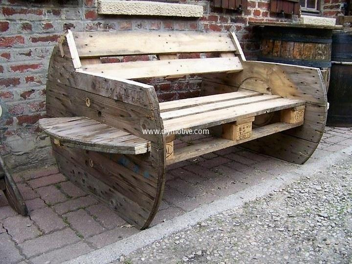 60 Creative Ideas for Wood Pallet Reusing Madera, Para el hogar y - como hacer bancas de madera para jardin