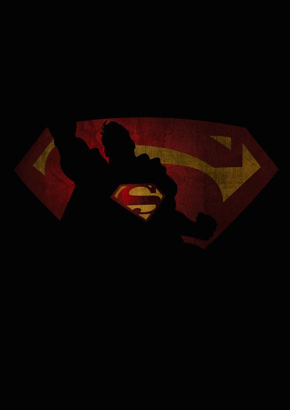 Superman Superhero Shadows By Lilys Factory Superheroes And