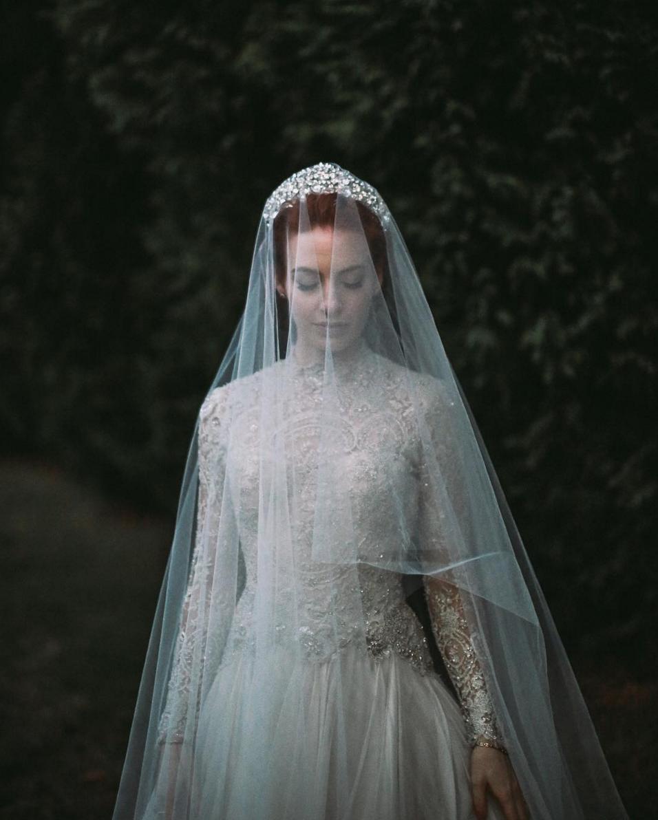 Wedding Hairstyle With Crown: Viktoria Novak Wedding Crown // Bridal Crown Inspiration