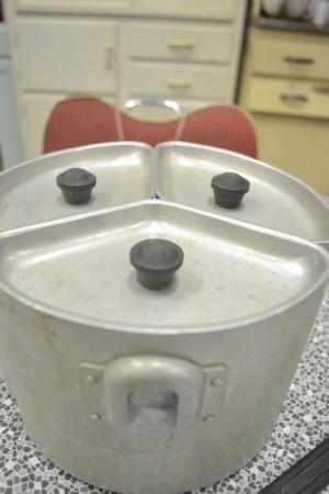 Vintage Saucepans Swan Brand 1940's camping.