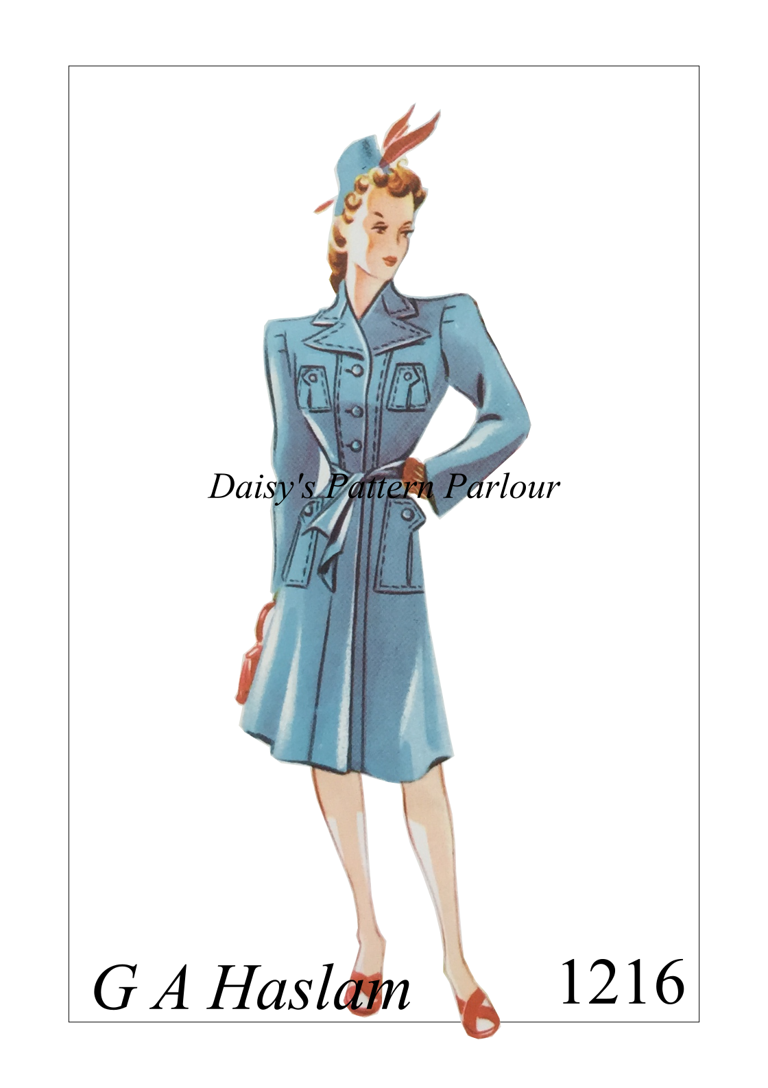 1940s coat by GA Haslam. For more multi-sized vintage sewing ...