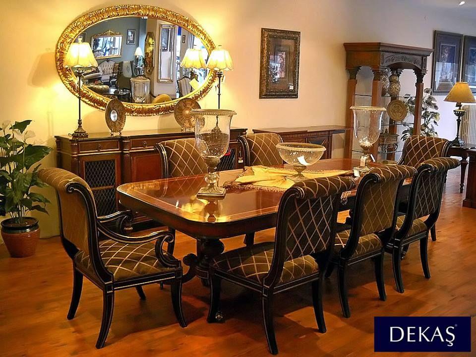 Klasik Mobilya Severlere Regency Yemek Takm