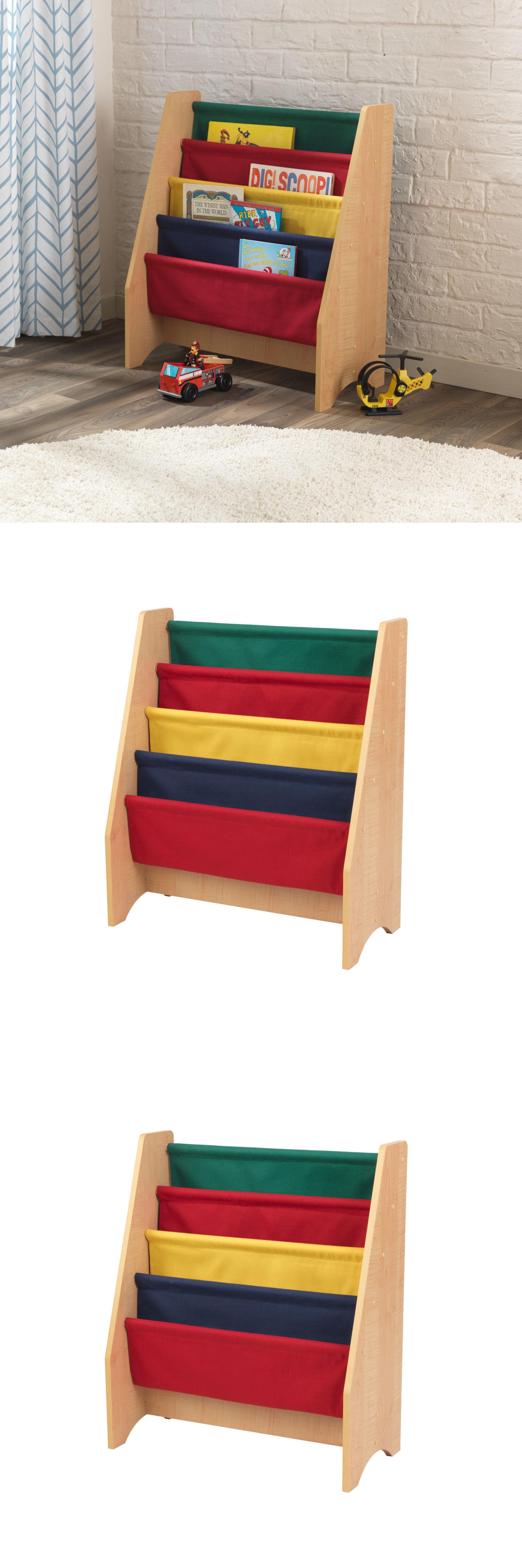 bookcases sling bookshelf by kidkraft colorful sling