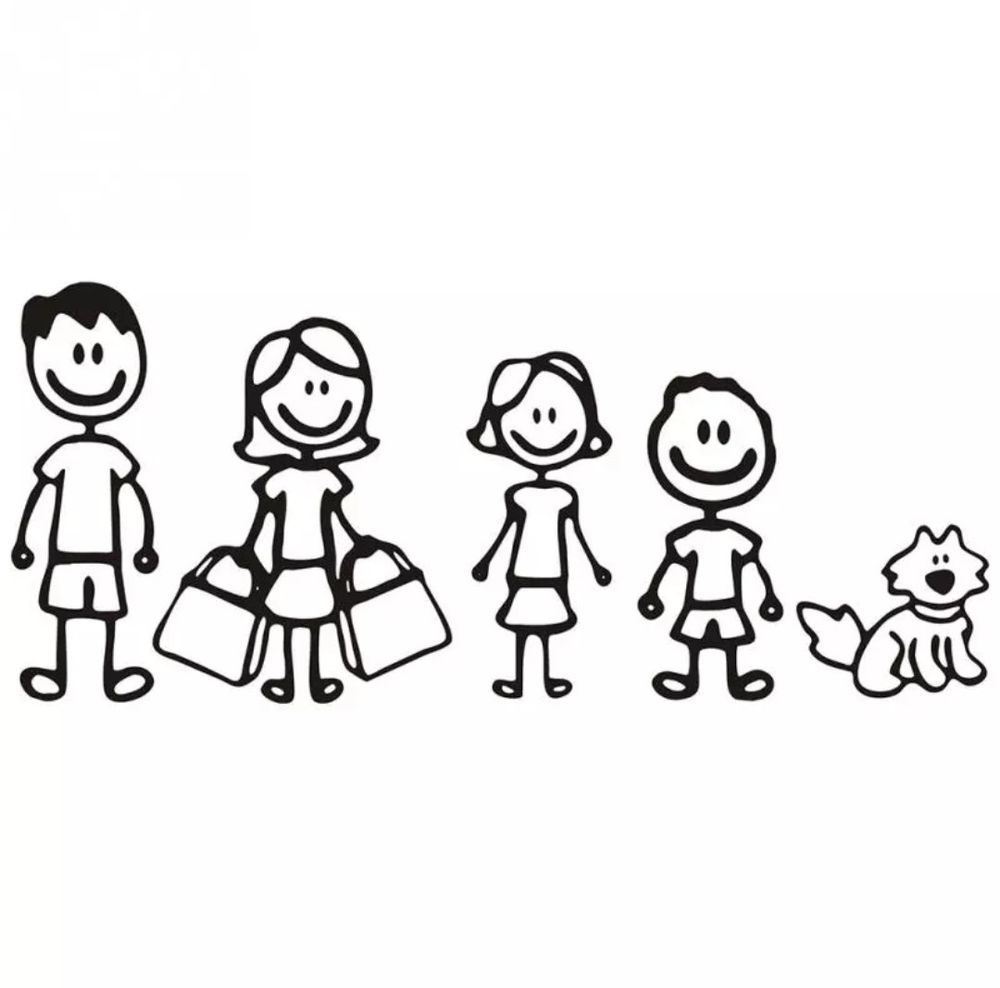 My Family Dad Mom Girl Boy Pet Cat Dog Car Truck Decal Sticker Ebay In 2021 Car Stickers Funny Family Cartoon Laptop Decal Stickers [ 988 x 1000 Pixel ]