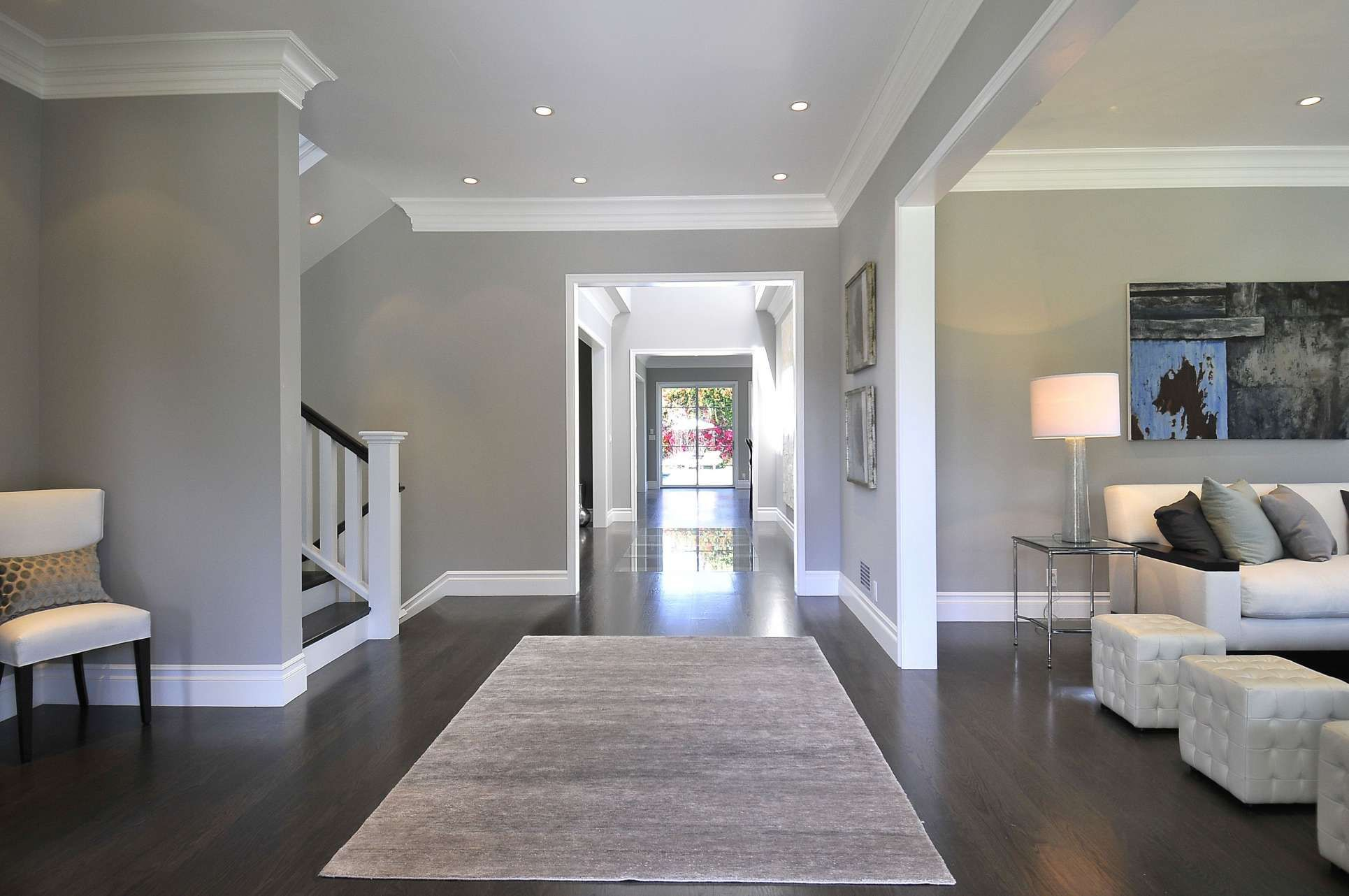 Wall Paint Colors For Dark Wood Floors and Gray Walls With